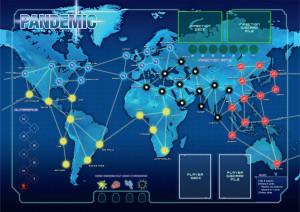 Pandemic game map