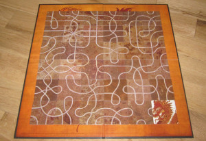 The Tsuro game board.