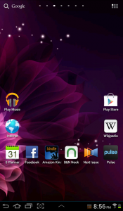 Samsung Galaxy Tab 2 7.0 homescreen